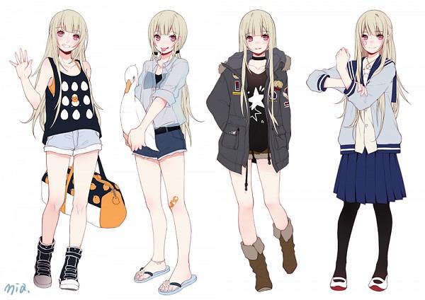 Tags: Anime, Mia0309, Flip Flops, Original, Pixiv