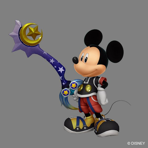 Tags: Anime, SQUARE ENIX, Kingdom Hearts, Mickey Mouse, Keyblade, Official Art, 3D