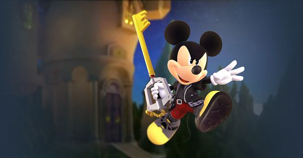 Tags: Anime, SQUARE ENIX, Kingdom Hearts III, Mickey Mouse, Keyblade, Motion Blur, Official Art, 3D