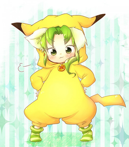 Tags: Anime, Pixiv Id 2160440, Inazuma Eleven, Pokémon, Midorikawa Ryuuji, Pikachu (Cosplay)