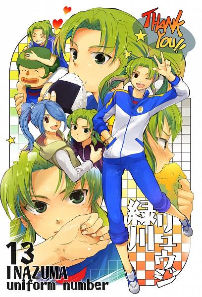 Tags: Anime, Azu (Azuki), Inazuma Eleven, Midorikawa Ryuuji, Kazemaru Ichirouta, Kabeyama Heigorou, Mobile Wallpaper