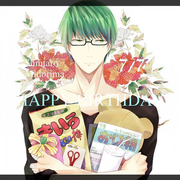 Tags: Anime, Kumamimu, Kuroko no Basuke, Midorima Shintarou, Fanart, PNG Conversion, Pixiv