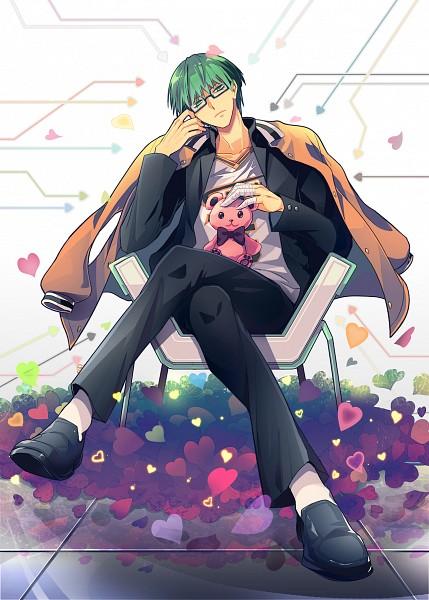 Tags: Anime, Retpa, Kuroko no Basuke, Midorima Shintarou, School Uniform (Shuutoku High), Bandaged Fingers, Basketball Uniform (Shuutoku High), Pixiv, Mobile Wallpaper