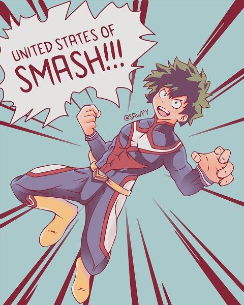 Tags: Anime, Sawuh, Boku no Hero Academia, All Might, Midoriya Izuku, Independence Day, Punching, Yagi Toshinori (Cosplay), HD Wallpaper, Wallpaper