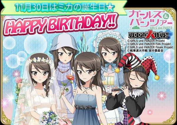 Tags: Anime, GIRLS und PANZER, GIRLS und PANZER der FILM, Mika (GIRLS und PANZER), Flute, Jingle Bells, Official Art, Twitter