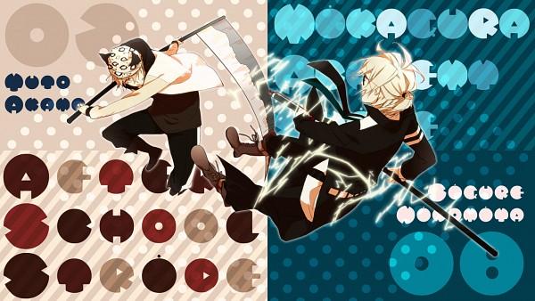 Tags: Anime, Pixiv Id 1897607, Mikagura Gakuen Kumikyoku, Akama Yuuto, Ninomiya Shigure, Cat Hat, Pixiv, Wallpaper, Facebook Cover, Mikagura School Suite