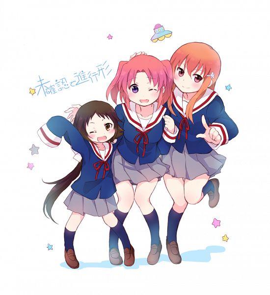 Tags: Anime, Tarabagani, Mikakunin de Shinkoukei, Mitsumine Mashiro, Yonomori Benio, Yonomori Kobeni, Flower Clip, PNG Conversion