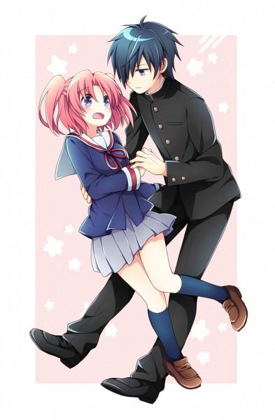 Tags: Anime, Soranagi, Mikakunin de Shinkoukei, Mitsumine Hakuya, Yonomori Kobeni, Pixiv, Fanart, Fanart From Pixiv, Mobile Wallpaper