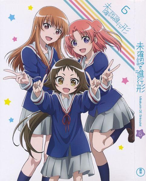 Tags: Anime, Dogakobo, Mikakunin de Shinkoukei, Mitsumine Mashiro, Yonomori Benio, Yonomori Kobeni, Official Art, Scan, DVD (Source)