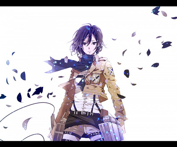 Tags: Anime, Nao (Pixiv 1554360), Attack on Titan, Mikasa Ackerman, Floating Scarf, deviantART, Fanart, Fanart From DeviantART