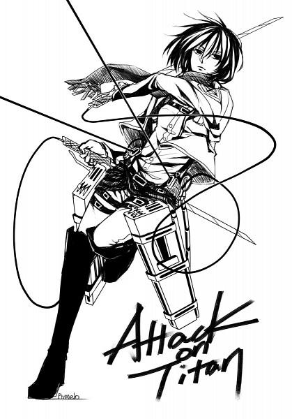 Tags: Anime, Pixiv Id 1198541, Shingeki no Kyojin, Mikasa Ackerman, Pixiv, Mobile Wallpaper