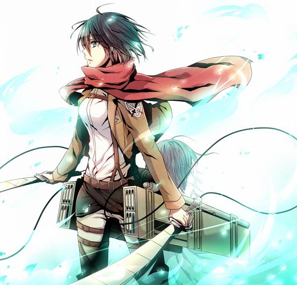 Tags: Anime, Rirumu, Attack on Titan, Mikasa Ackerman, Pixiv, Fanart, Fanart From Pixiv, PNG Conversion