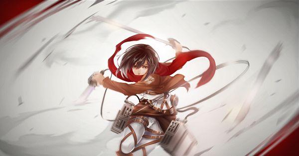 Tags: Anime, T-pip, Attack on Titan, Mikasa Ackerman, Fanart From Pixiv, Facebook Cover, Pixiv, Wallpaper, Fanart