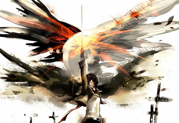 Tags: Anime, Pixiv Id 6537749, Attack on Titan, Mikasa Ackerman, Pixiv, Fanart, Fanart From Pixiv