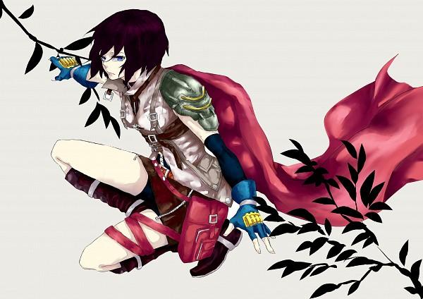 Tags: Anime, Pixiv Id 4393854, Attack on Titan, Mikasa Ackerman, Final Fantasy (Parody), Lightning Farron (Cosplay), Pixiv, Fanart, Fanart From Pixiv