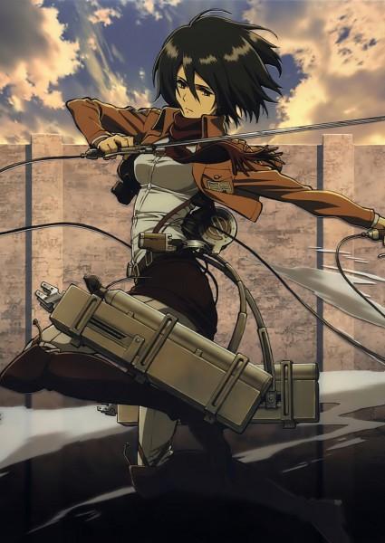 Tags: Anime, WIT STUDIO, Attack on Titan, Mikasa Ackerman, Official Art, Mobile Wallpaper, Scan, DVD (Source)