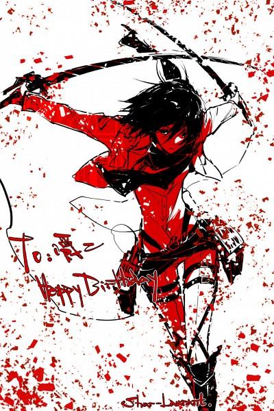Tags: Anime, Pixiv Id 6589728, Attack on Titan, Mikasa Ackerman, Mobile Wallpaper