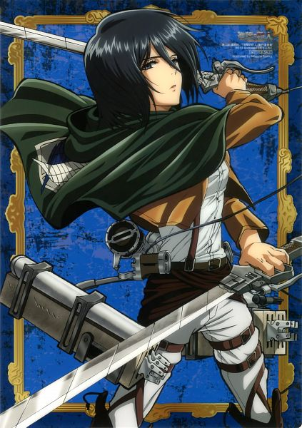 Tags: Anime, Tomita Megumi, WIT STUDIO, Attack on Titan, Mikasa Ackerman, Mobile Wallpaper, Official Art, Scan
