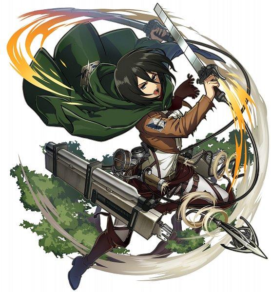 Tags: Anime, studioking, Attack on Titan, Boku & Dragons, Mikasa Ackerman, Official Art