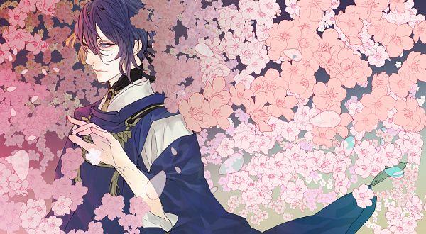 Tags: Anime, NPN, Touken Ranbu, Mikazuki Munechika, Wallpaper, Fanart, Fanart From Pixiv, Facebook Cover, Pixiv