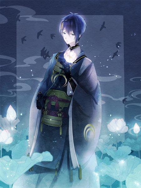 Tags: Anime, Yu-kichi, Touken Ranbu, Mikazuki Munechika, Fanart, Fanart From Pixiv, Mobile Wallpaper, Pixiv