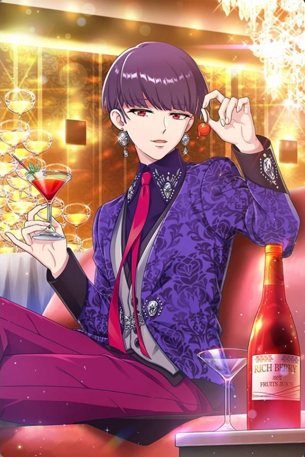 Tags: Anime, DREAM!Ing, Mikekado Shion, Gray Vest, Purple Jacket, Pink Pants, Official Art, Official Card Illustration