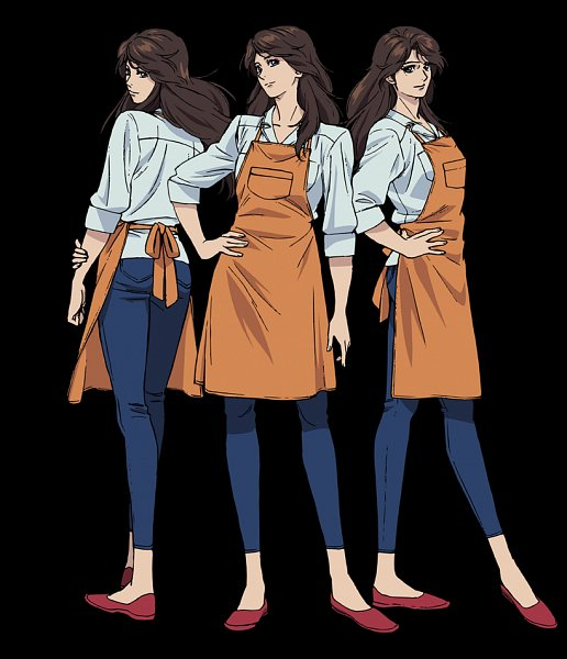 Tags: Anime, Takahashi Kumiko, Sunrise (Studio), City Hunter, City Hunter: Shinjuku Private Eyes, Miki (City Hunter), Official Art, Character Sheet
