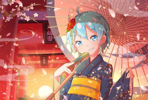 Tags: Anime, Pixiv Id 4614760, Mahou Shoujo Madoka☆Magica, Magia Record: Mahou Shoujo Madoka☆Magica Gaiden, Miki Sayaka, Chinese Umbrella, Pixiv, Fanart, Fanart From Pixiv