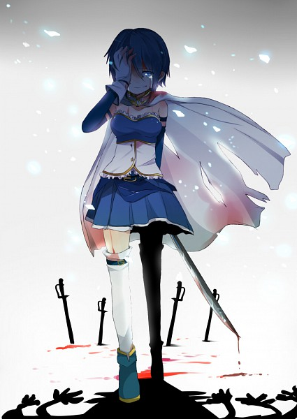Tags: Anime, Ayase08, Mahou Shoujo Madoka☆Magica, Miki Sayaka, Mobile Wallpaper, Revision, Pixiv, Fanart From Pixiv, Fanart