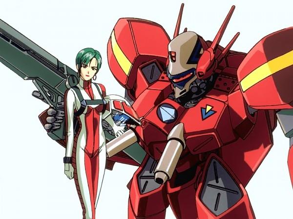 Tags: Anime, Bandai Visual, Macross 7, Milia Fallyna Jenius, Pilot Uniform, Scan
