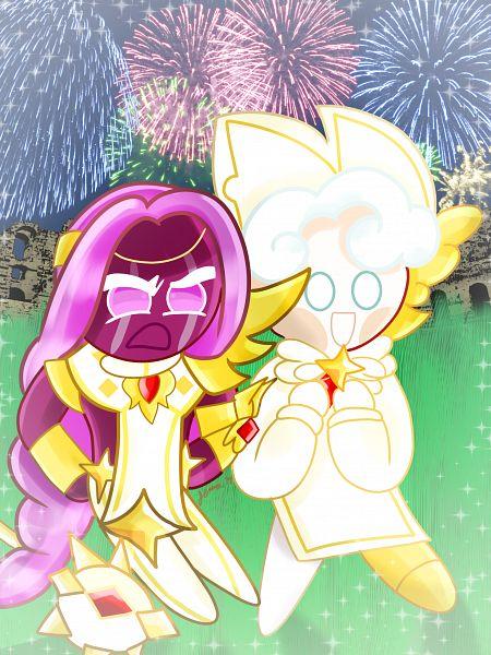 Tags: Anime, Jennalt-01angel, Cookie Run: OvenBreak, Cookie Run, Purple Yam Cookie, Milk Cookie, Milk Cookie (Herald Of Victory), Purple Yam Cookie (Champion Of Valor), Fanart From DeviantART, deviantART, Fanart, MilkYam