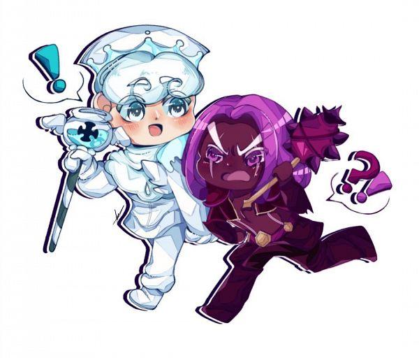 Tags: Anime, Bonbondecitron, Cookie Run: OvenBreak, Cookie Run, Purple Yam Cookie, Milk Cookie, Fanart, MilkYam