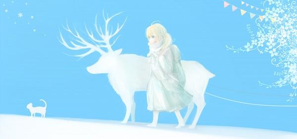 Tags: Anime, Milkuro, Deer, Reindeer, Facebook Cover, Original