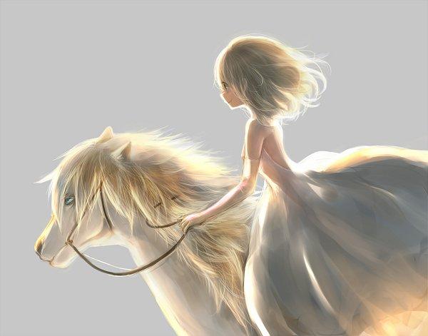 Tags: Anime, Milkuro, Horseback Riding, Original, Pixiv