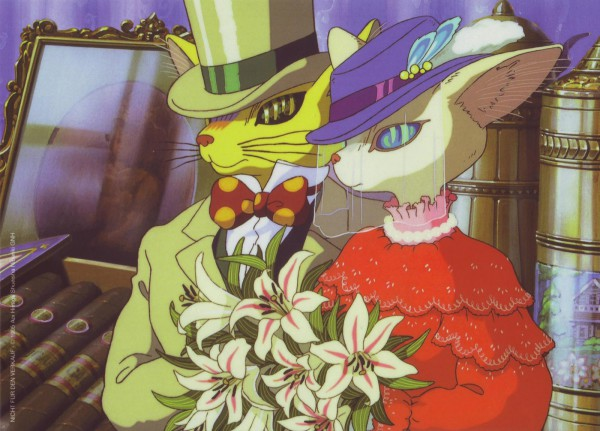 Tags: Anime, Studio Ghibli, Mimi wo Sumaseba (Ghibli), Baron Humbert von Gikkingen, Hat Feather, Official Art, Whisper Of The Heart
