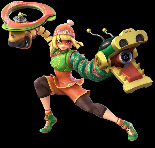 Tags: Anime, Bandai Namco Entertainment, Super Smash Bros., ARMS (Game), Min Min (ARMS), Official Art