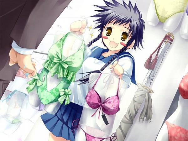 Tags: Anime, Mai-hiME, Unmei no Keitouju, Kyoji Takamura, Minagi Mikoto, Shopping, CG Art
