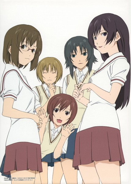 Tags: Anime, asread, Minami-ke, Maki (Minami-ke), Hayami (Minami-ke), Atsuko (Minami-ke), Riko (Minami-ke), Keiko (Minami-ke), DVD (Source), Official Art, Scan