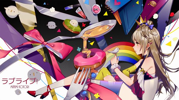 Tags: Anime, Prophet (Artist), Love Live!, Minami Kotori, Fast Food, HD Wallpaper, Wallpaper, PNG Conversion, Kotori Minami