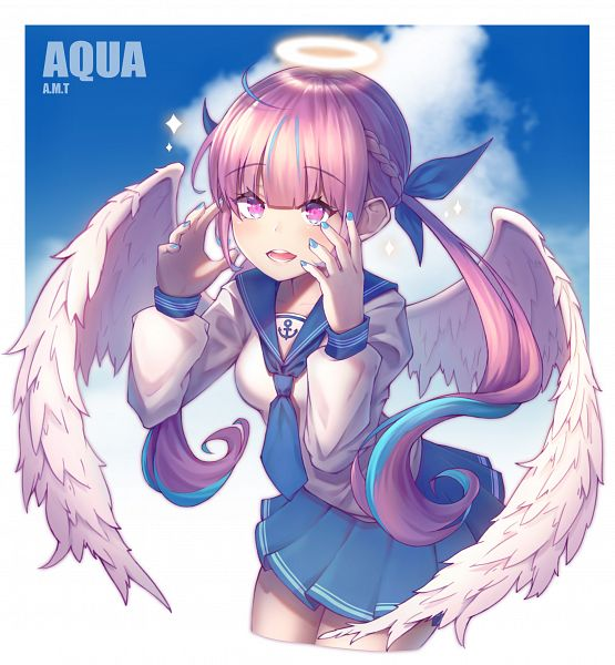 Tags: Anime, Pixiv Id 4857386, Hololive, Aqua Ch., Minato Aqua