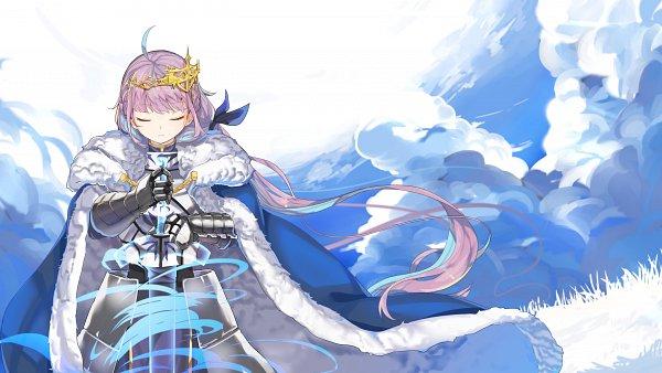 Tags: Anime, Pixiv Id 3084860, Hololive, Aqua Ch., Minato Aqua, Saber (Fate/stay night) (Cosplay), Pixiv