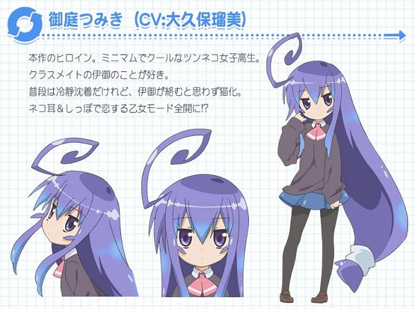 Tags: Anime, Acchi Kocchi, Miniwa Tsumiki, Character Sheet, Official Art