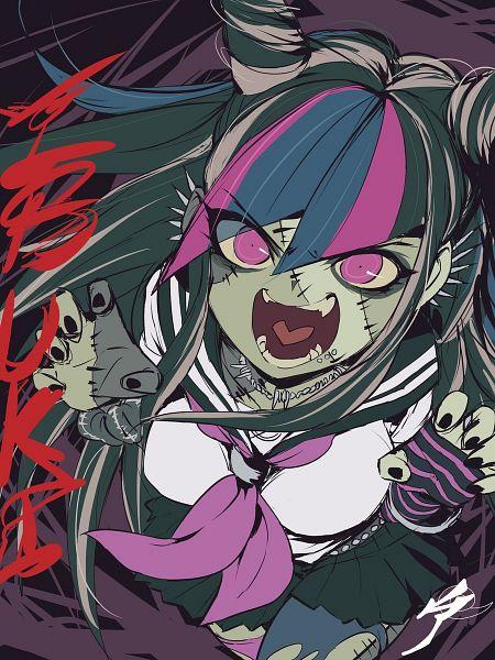 Tags: Anime, Zombieland Saga, Super Danganronpa 2, Mioda Ibuki, Twitter, Artist Request, Wallpaper