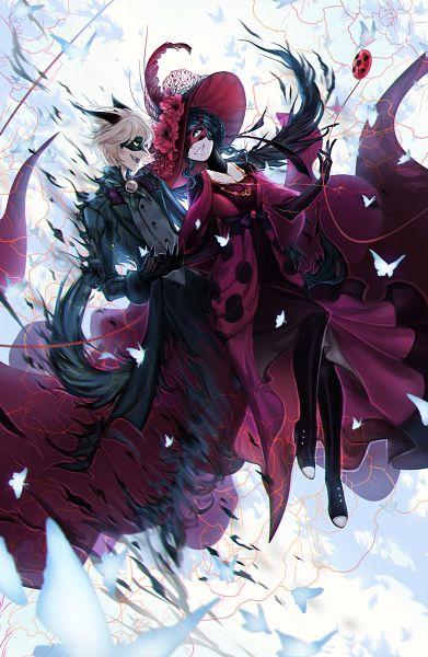 Tags: Anime, avodkabottle, Miraculous Ladybug, Marinette Dupain-Cheng, Ladybug (Character), Adrien Agreste, Chat Noir (Ladybug), Domino Mask, Disappearing, Hat Feather, Fanart From DeviantART, Fanart, Mobile Wallpaper