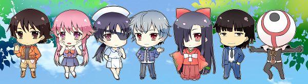 Tags: Anime, Narumiya Koneko, Mirai Nikki, Akise Aru, Hirasaka Yomotsu, Amano Yukiteru, Kasugano Tsubaki, Gasai Yuno, Kurusu Keigo, Uryuu Minene, Future Diary