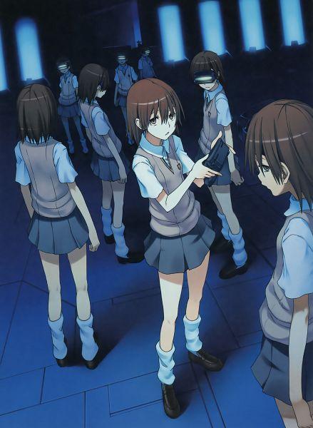 Tags: Anime, Fuyukawa Motoi, To Aru Kagaku no Railgun, To Aru Majutsu no Index, Misaka Imouto, Official Art, Scan