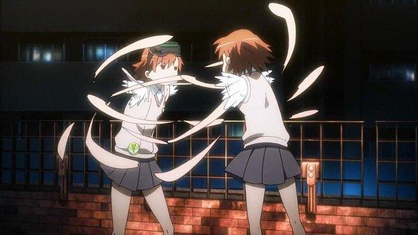 Tags: Anime, To Aru Kagaku no Railgun, To Aru Majutsu no Index, Misaka Imouto, Misaka Mikoto, Punching, Screenshot