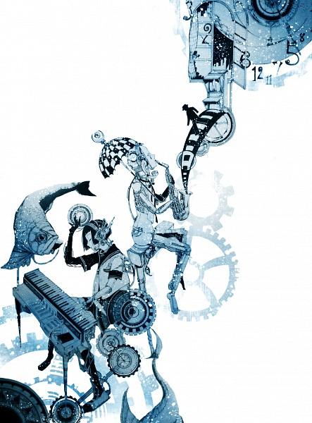 Tags: Anime, Misaki (Chess08), Surreal, Keyboard (Instrument), Saxophone, Pixiv, Original