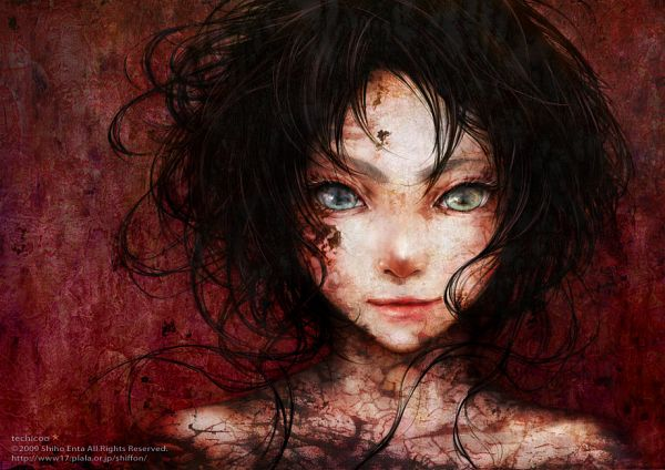 Tags: Anime, Techicoo, Another, 100 Masters of Bishoujo Painting, Misaki Mei, Dirt, Pixiv
