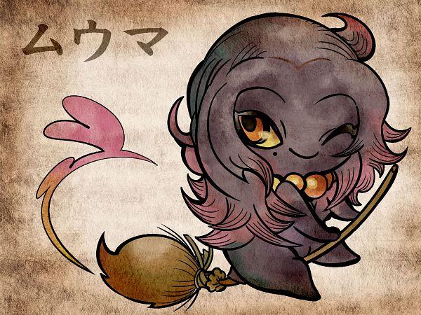 Tags: Anime, Shimanoko, Pokémon, Misdreavus, 2000x1500 Wallpaper, Nihonga, Pixiv, Wallpaper, Fanart